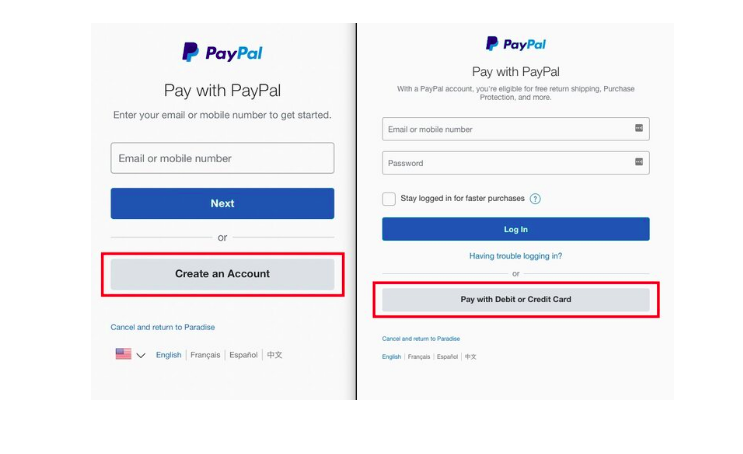 Unable to pay via PayPal
