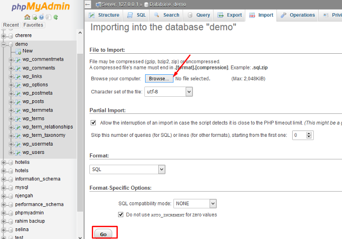 Methods for MySQL Database Import and Common Issues - Knowledgebase